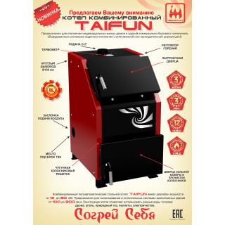 """Котел отопительный комбинированный Taifun (""""Тайфун"""") 12 кВт"""